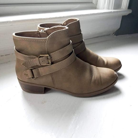 Kohls So Midge Girls Tan Ankle Boots